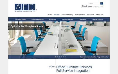 Screenshot of Services Page afd-inc.com - Services   AFD Inc. - captured Feb. 4, 2016