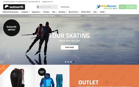 Screenshot of Home Page outnorth.com - Outnorth - The best of Scandinavian Outdoor - captured Feb. 5, 2016