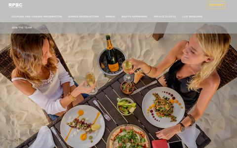 Screenshot of Menu Page royalpalmscayman.com - Menu's - Royal Palms Beach Club - captured July 12, 2019
