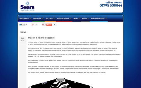 Screenshot of Press Page searsbusinesscentre.co.uk - Sears Business Centre Ltd | News - captured Oct. 1, 2014