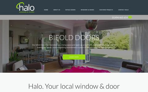 Screenshot of Home Page halowindows.co.uk - Home Page - Thames Valley and Buckinghamshire - Halo Windows - captured Jan. 24, 2016