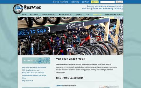 Screenshot of Team Page bikeworks.org - The Bike Works Team - Bike Works - captured Jan. 3, 2016