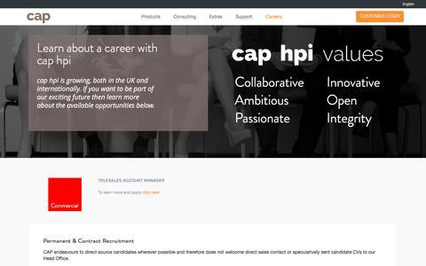 Screenshot of Jobs Page cap.co.uk - Careers - captured Aug. 30, 2016
