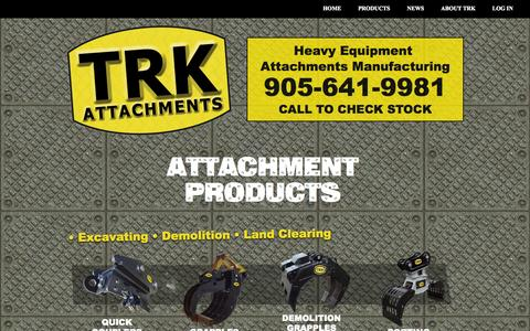 Screenshot of Products Page trkattach.ca - Attachment Products - captured Sept. 23, 2014