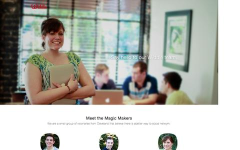 Screenshot of Team Page widdle.it - Widdle - Meet the Magic Makers - captured Oct. 22, 2014
