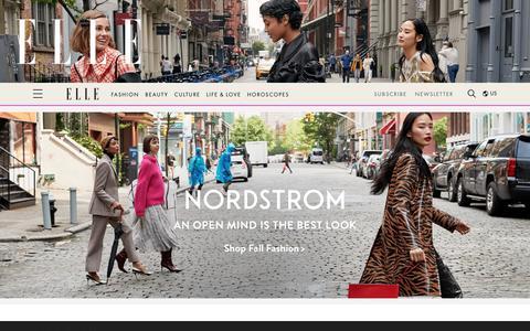Screenshot of Home Page elle.com - Fashion Magazine - Beauty Tips, Fashion Trends, & Celebrity News - ELLE - captured Sept. 29, 2019
