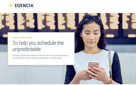 Screenshot of Landing Page egencia.com - egencia - captured March 1, 2018