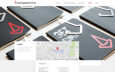 Screenshot of Contact Page funck.nl - Ontwerpstudio FUNck |  Contact - Ontwerpstudio FUNck - captured Oct. 16, 2017