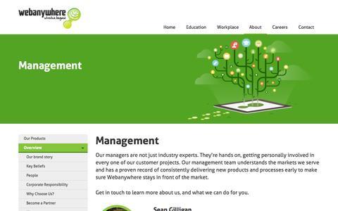 Screenshot of Team Page webanywhere.co.uk - Management Team | Webanywhere UK e-Learning Solutions - captured Oct. 26, 2014