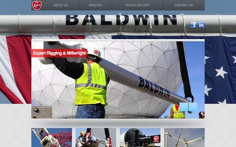 Screenshot of Home Page baldwincrane.com - Baldwin Crane - captured March 6, 2016