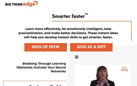 Screenshot of Signup Page bigthinkedge.com - Sign Up – Big Think Edge - captured June 20, 2019