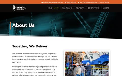 Screenshot of About Page brindleyengineering.com - About Brindley Engineering Company | Brindley Engineering Corporation - captured Oct. 6, 2018