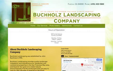 Screenshot of Hours Page gardenbuilders.com captured Oct. 7, 2018