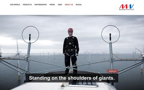 Screenshot of About Page mhivestasoffshore.com - About | MHI Vestas Offshore Wind Turbine Manufacturers - captured Oct. 1, 2018