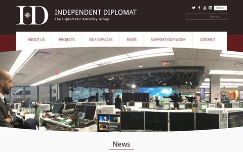 Screenshot of Press Page independentdiplomat.org - News | Independent Diplomat | The diplomatic advisory group - captured Dec. 21, 2015