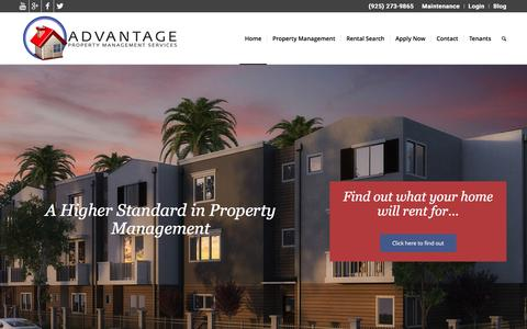 Screenshot of Home Page advantagepms.com - Advantage Property Management Services - Advantage Property Management Services - captured Feb. 5, 2016
