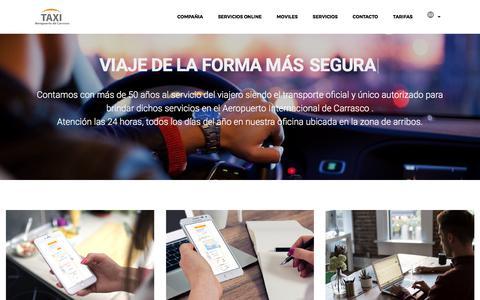 Screenshot of Home Page taxisaeropuerto.com - :: Taxis oficiales del Aeropuerto internacional de Carrasco :: - captured June 26, 2017