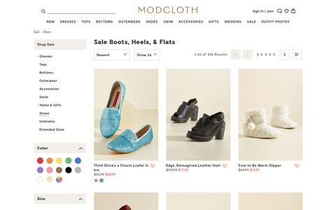 Sale Boots, Heels, Flats & Sandals| ModCloth