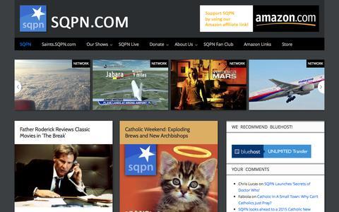 Screenshot of Home Page sqpn.com - SQPN.com - Leading the Way - captured Sept. 23, 2014