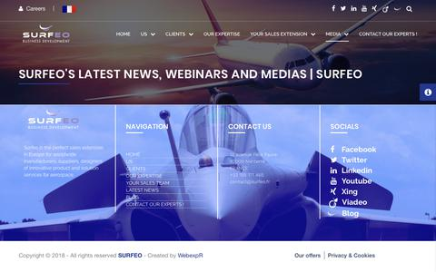 Screenshot of Press Page surfeo.eu - Surfeo's latest news, webinars and medias | Surfeo - captured July 25, 2018