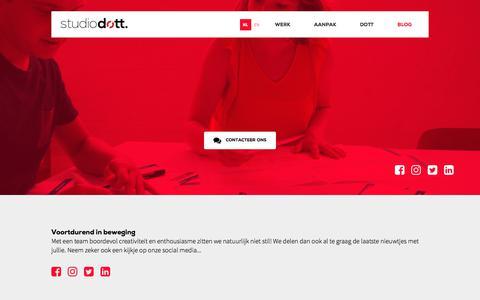 Screenshot of Blog studiodott.be - Blog | Studio Dott - Studio Dott - captured Nov. 10, 2017