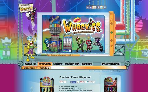 Screenshot of Products Page puckerpowder.com - 14 Flavor Dispenser - Pucker Powder - captured Sept. 30, 2014