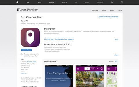 Esri Campus Tour on the App Store