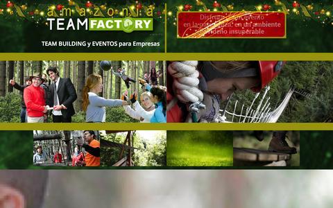Screenshot of Home Page amazonia-teamfactory.com - Team Building Madrid, actividades outdoor para empresas - captured Dec. 24, 2015