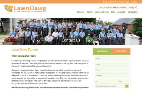 Screenshot of Jobs Page lawndawg.com - Careers in Lawn Care & Pest Services | Lawn Dawg - captured May 15, 2017