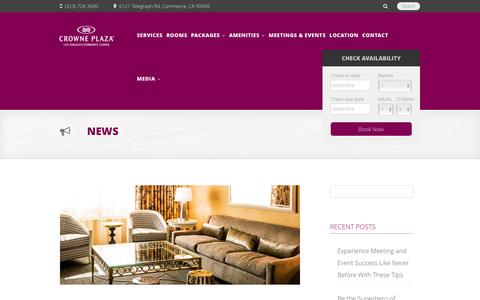 Screenshot of Press Page cpccla.com - Crowne Plaza Hotel at Commerce Casino Los Angeles - captured Feb. 1, 2016