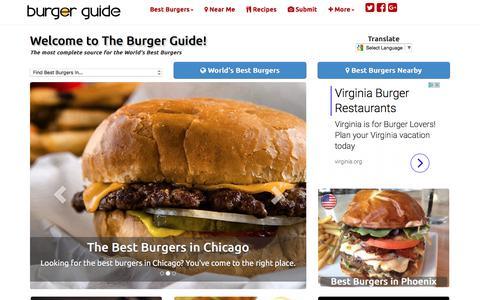 Screenshot of Home Page theburgerguide.com - The Burger Guide - World's Best Burgers - Reviews - Recipes - captured June 14, 2017
