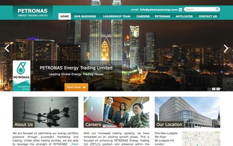 Screenshot of Home Page petronasenergy.com - PETRONAS Energy Trading Ltd - captured Jan. 24, 2016