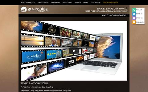 Screenshot of About Page moonshineagency.com.au - ABOUT MOONSHINE AGENCY - Moonshine Agency - captured Sept. 30, 2014
