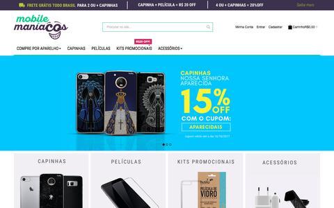 Screenshot of Home Page mobilemaniacos.com.br - Mobile Maníacos: Capas, Películas e Acessórios para Celular - captured Oct. 14, 2017