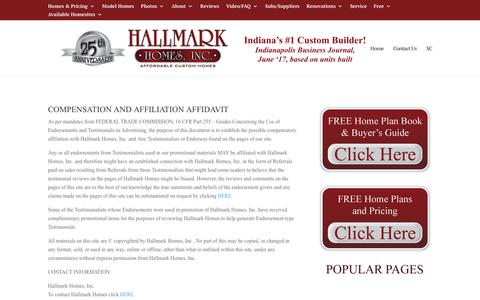 """Screenshot of Terms Page hallmarkhomes.com - Legal 