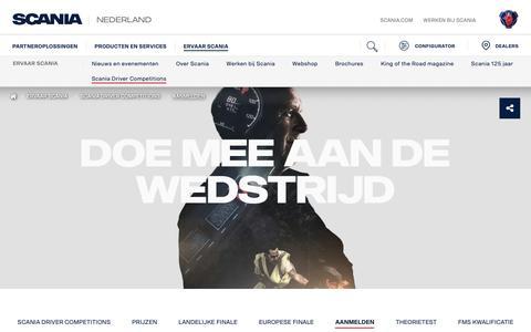 Screenshot of Signup Page scania.com - Sign up | Scania Nederland - captured Oct. 25, 2018