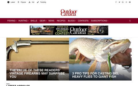 Screenshot of Home Page outdoorcanada.ca - Outdoor Canada - captured Oct. 18, 2018