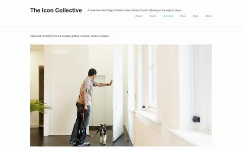 Screenshot of Contact Page theiconcollective.com - Connect — The Icon Collective - captured Oct. 14, 2017