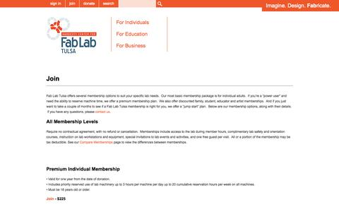 Screenshot of Signup Page fablabtulsa.com - Join - Hardesty Center for Fab Lab Tulsa - captured Sept. 30, 2014