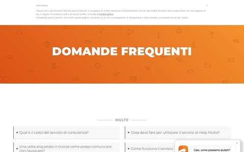 Screenshot of FAQ Page tiassisto24.it - Domande frequenti | tiassisto24 - captured Oct. 19, 2018