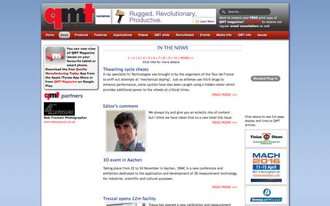 Screenshot of Press Page qmtmag.com - Quality Manufacturing Today Magazine: Home Page - captured Nov. 13, 2016