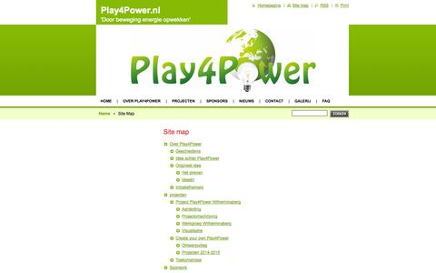 Screenshot of Site Map Page play4power.nl - Site Map :: Play4Power.nl - captured Sept. 30, 2014