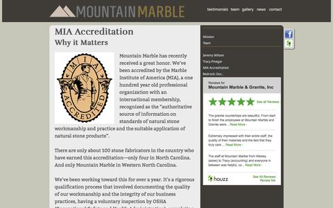 Screenshot of Press Page mountainmarble.com - Mountain Marble - news articles - captured Oct. 21, 2017
