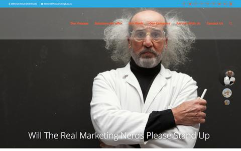 Screenshot of Home Page themarketinglab.us - The Marketing Lab | - captured Sept. 20, 2018