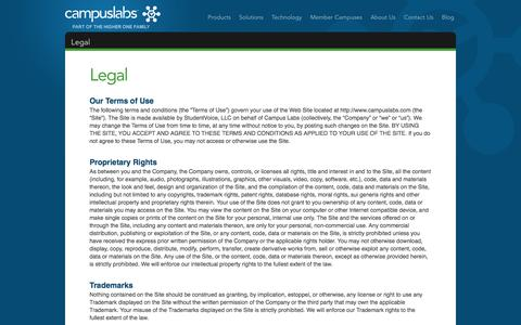 Screenshot of Terms Page campuslabs.com - Legal «  Campus Labs - captured Sept. 23, 2014