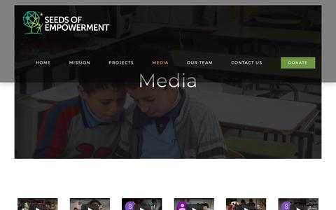 Screenshot of Press Page seedsofempowerment.org - MEDIA – Seeds of Empowerment - captured Oct. 25, 2018