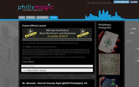 Screenshot of Blog tumblr.com - PhillyMagicBlog - captured Sept. 11, 2014