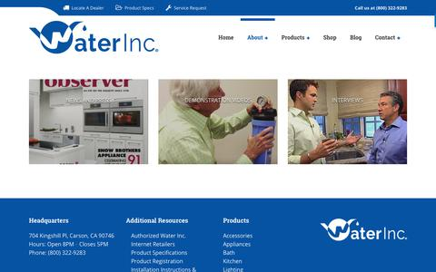 Screenshot of Press Page waterinc.com - Media - Water, Inc - captured Nov. 7, 2018