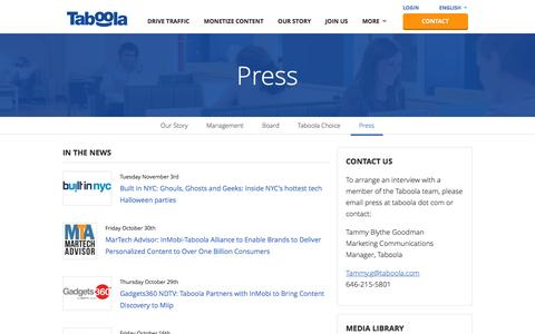 Press | Taboola | Drive Traffic and Monetize Your Site