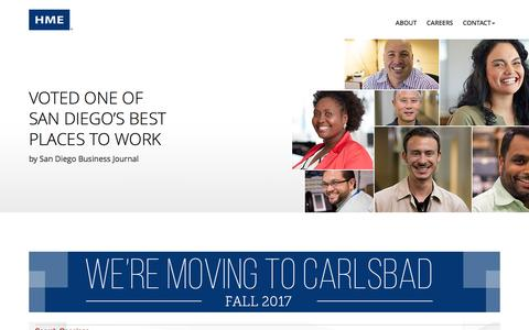 Screenshot of Jobs Page hme.com - Careers   HME - captured May 12, 2017